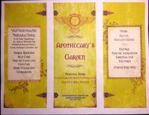 Flyer Apothecary's Garden 2012