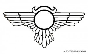 Sumerian Winged Sun Disc. Symbol of regeneration and Healing