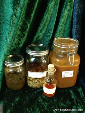 Assorted tinctures, digesting